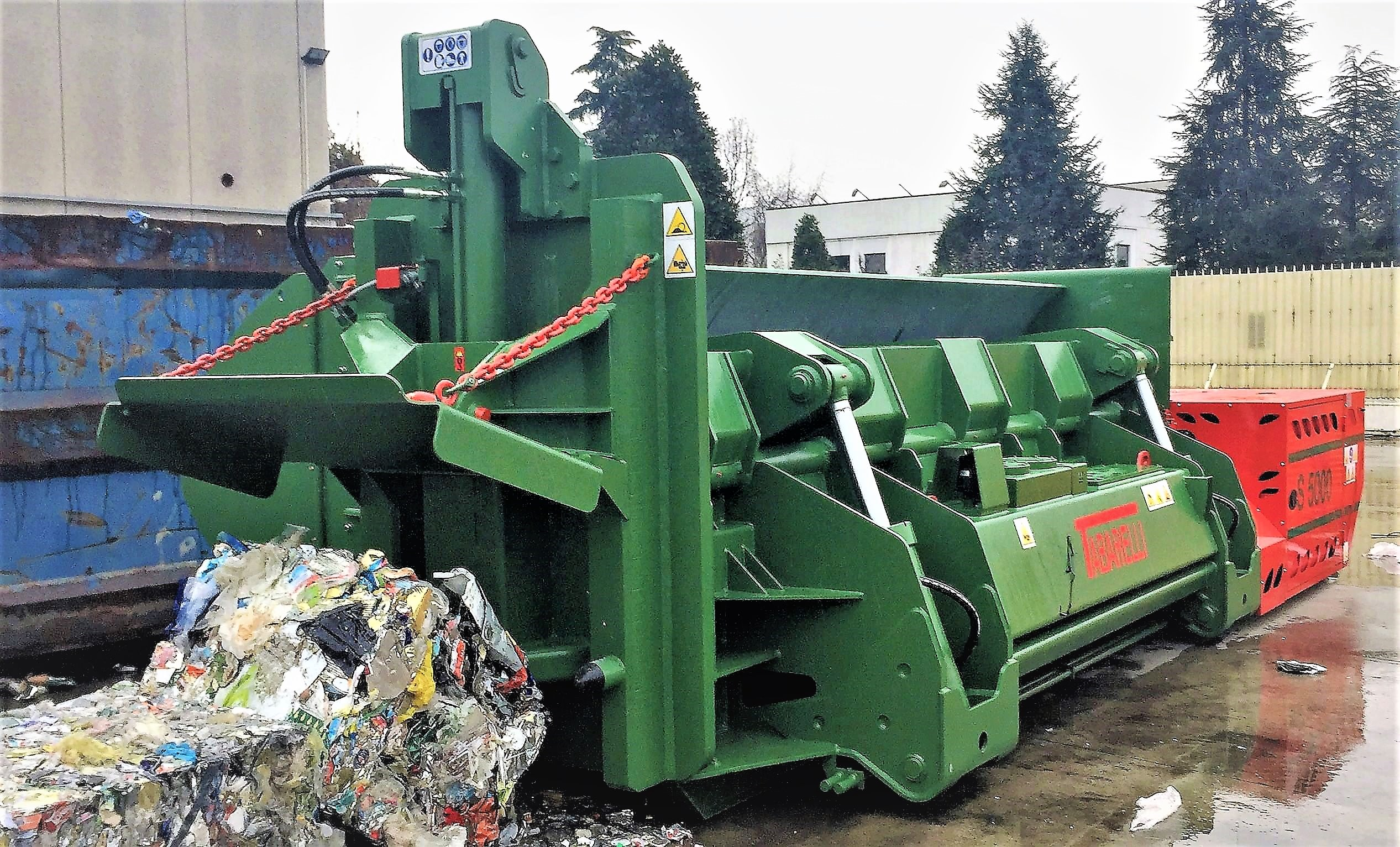 pressa scarrabile idromec S5000 per lavorazione metalli e rottami