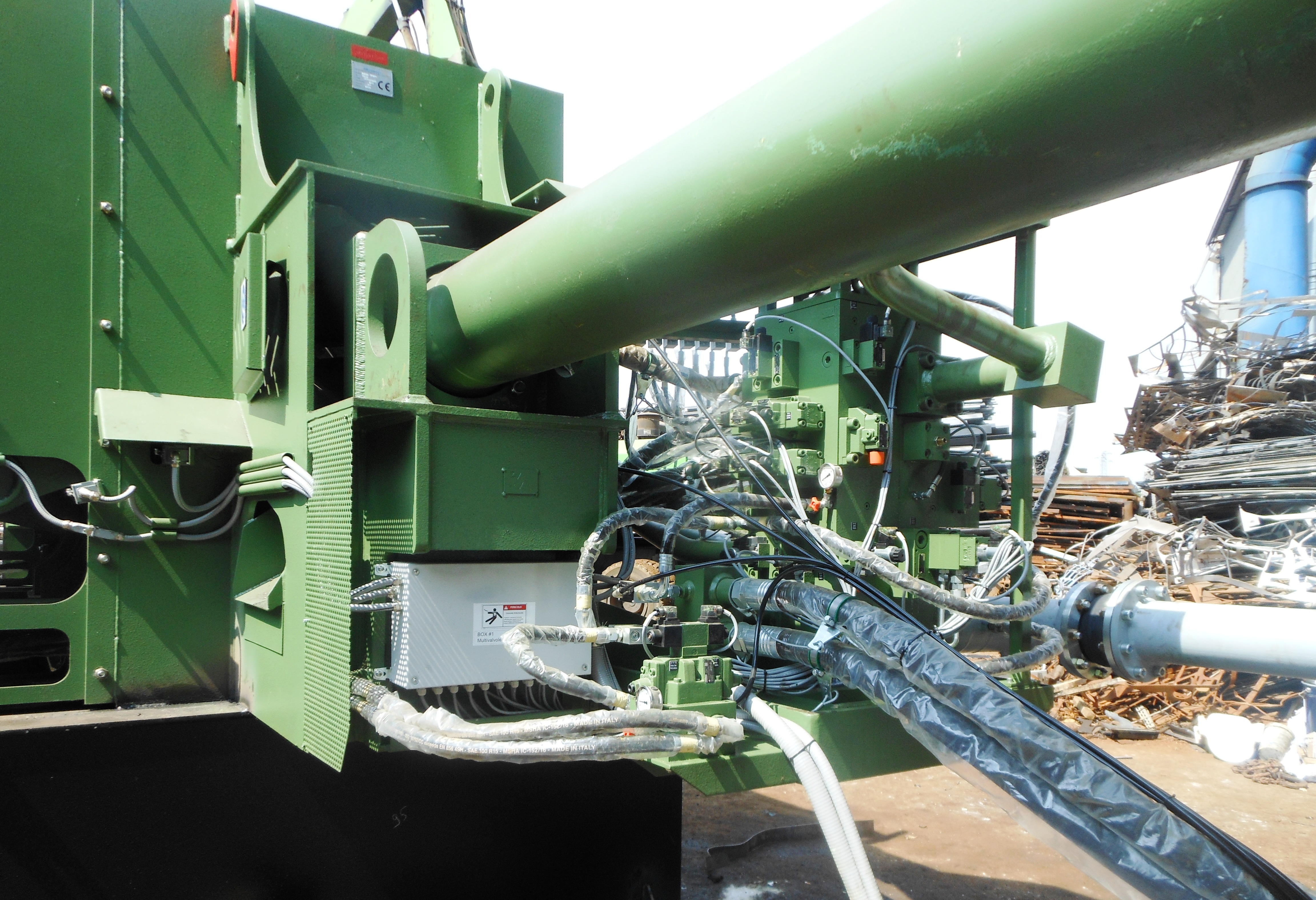 Shear balers Idromec T800C for scrap and metals